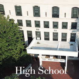 high school building seen from above